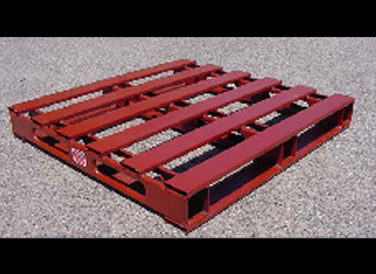 Red Painted Pallet